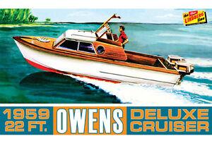2016 Lindberg #222 1/25 1959 Owens Hors-Bord de Luxe Cruiser Bateau Maquette