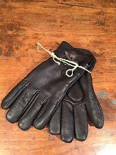 New Bills Khaki Motorcycle Riding Gloves Harley Brad Pitt Glove Size Medium Blk