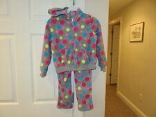 EUC!!  Gymboree Gray Polka Dotted Sweat suit - Size Girls 7-8
