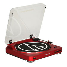 Audio-Technica AT-LP60RD Fully Automatic Stereo Turntable System (Red)