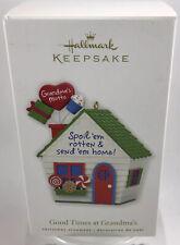 "2010 Hallmark Keepsake Ornament ""Good Times At Grandmas"" Christmas Decor"