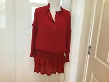 ba&sh mini dress size 3 colour red very good condition