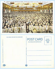Marine Ballroom Crowd & Band Intruments Atlantic City New Jersey Teich Postcard