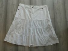 LADIES WHITE GYPSY STYLE/A-LINE COTTON SKIRT SIZE 16 FROM NEW LOOK
