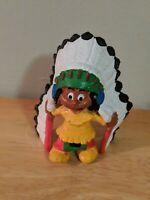 YAKARI with Chief Headdress Figurine Vintage PVC Schleich - Casterman Marlex