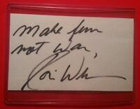 Robin Williams Autographed, Cut on Standard Index Card,  Comedian/Actor (VG)