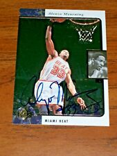 1995 1996 Upper Deck SP Alonzo Mourning Authentic Autograph Card #70 Miami Heat