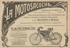 Y8257 La Motosacoche - Biciclette a motore - Pubblicità d'epoca - 1907 Old ad