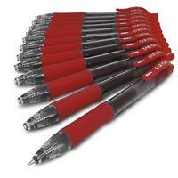 Zebra Sarasa - 0.7mm Retractable Gel Ink Rollerball Pen - Set of 12 - Red Ink