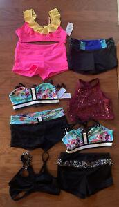 California Kisses Dancewear 9 Pc Lot Child's XL NWT & EUC