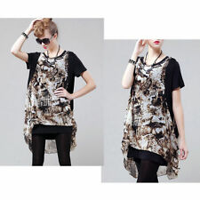 Chiffon Tunic Floral Tops & Blouses for Women