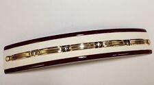 14k solid two tone gold Men's Bar Link bracelet 8    11 grams