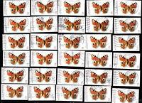 30 Stück BRD 2005 Nr. 2504 Wohlfahrt Schmetterlinge Tagpfauenauge gestempelt