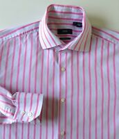 HUGO BOSS LONG SLEEVED REGULAR FIT SHIRT SIZE 15 1/2 COLLAR VGC MADE IN ITALY