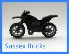 Lego - Black Dirt Bike Motorbike Motorcycle Motocross - City - New Pieces