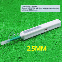 New One-Click Fiber Optic Cleaner 2.5mm for SC ST FC Adapter