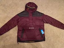 Columbia Lodge Pullover Mens Jacket Coat  - Black cherry - Size large. Brand new