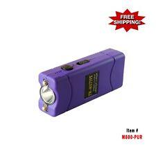 Ultra Mini Rechargeable Stun Gun 19 Million Volt With Led Light - Purple
