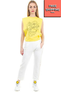 RRP€220 VIA DELLE PERLE VDP CLUB Jogger Trousers Size IT 38 / XS Silk Blend Trim