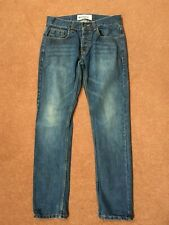 """Top Man Blue Skinny Jeans with Button Fly – UK 30""""S"""