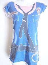 newbreed Girl tee t shirt police officer costume handcuff badge size XS