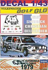DECAL 1/43 VOLKSWAGEN GOLF DIESEL D.SNOBECK R.MONTECARLO 1979 50th (02)
