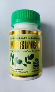 Moringa Capsules 500mg - HIGH STRENGTH Moringa Oleifera Leaf 180 Capsules