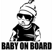 BABY ON BOARD Creative Fashion Car Sticker Tail Warning Sign Decal