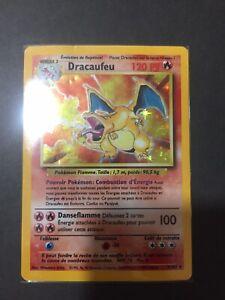 Carte Pokemon Dracaufeu 4/102 Set de Base FR