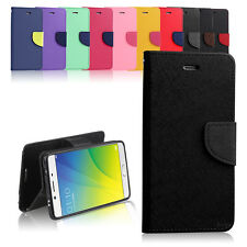 Premuim Diary Gel Wallet Flip Case Cover for Oppo R9S + Screen Protector