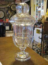 LARGE Vintage Lead Crystal Apothecary Jar Lidded STEAMPUNK ODDITIES INDUSTRIAL