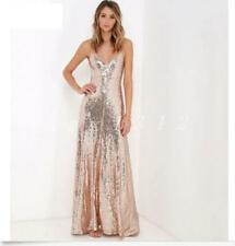Hot Womens Sequins Long Gown Bling Bridal Formal Glitter Pageant Maxi Dress Slim