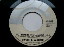 David T. Walker: Hot Fun In The Summertime 45 - Soul EX