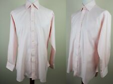 Charles Tyrwhitt Mens Long Sleeve Pink Cotton Dress Shirt *16/L* LP07
