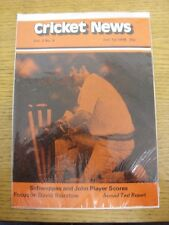 01/07/1978 Cricket News: Vol.02 No.09 - A Weekly Review Of The Game, Schweppes &