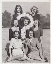 1944 Finalist For The New Rose Queen In Pasadena Ca Original 9x7 B&W Photo Rare