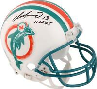 "Dan Marino Dolphins Signed Throwback '80-'96 Mini Helmet with ""HOF 05"" Insc"
