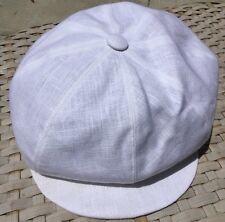 ANTHONY PETO PARIS FRANCE IVY NEWSBOY LINEN 8/4 CAP HAT PEAKY BLINDERS M 7 1/8