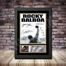 Rocky Balboa Film Stallone Signed Framed Poster Autographed Print A1 A2 A3 A4