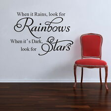 Rainbow Star Wall Quotes decal Removable stickers decor Vinyl DIY Family art