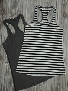 LOT OF 2 LULULEMON Cool Racerback Tank Tops Size 6 or 8 CRB
