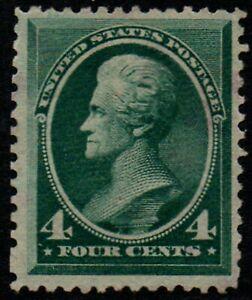 "USA 1883 4c blue-green ""Jackson"" no gum Scott #211 mint at 1/10th 2004 cat. (#1)"