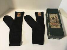 Vintage 1920'S Arrowhead Hosiery Box With Women'S Black Stockings