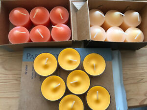 Partylite candles lot of 12 votives and 7 tealights spice market tangerine tease