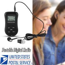LCD Mini Digital Portable Pocket AM FM Radio 2 Band Stereo Receiver w/ Headphone