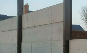 Concrete Panels - CE Marked - 100 thick - includes galv plates and bolts - Surve