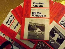 More details for  25 charlton athletic programmes  1966