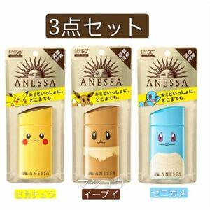 Shiseido ANESSA Perfect UV Milk a Pokemon 60mL 3 pieces  new