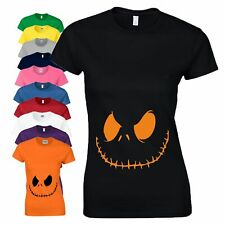 Smiling Jack Maternity Pregnancy Halloween T Shirt Baby Shower (Not Loose Top)