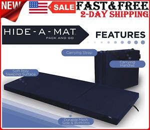 Sleeping Pad Floor Mat Jr TWIN Folding Thick Memory Foam Nap Spare Bed Mattress